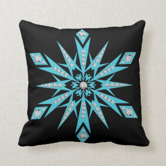 Modern Decorative Crystal Snowflake Throw Pillow