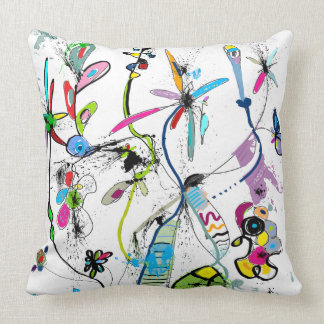 Modern decorative cushion, Alice' S Garden Throw Pillow