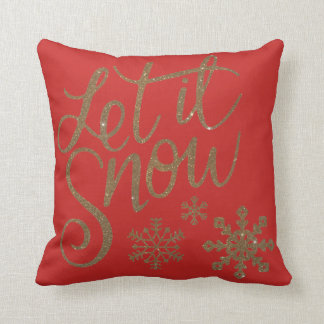 Modern Decorative Let it Snow Crystal Snowflake Throw Pillow
