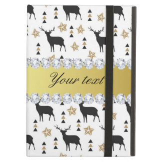 Modern Deer Pattern and Diamonds iPad Air Case