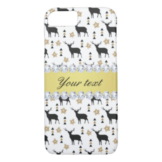 Modern Deer Pattern and Diamonds iPhone 8/7 Case