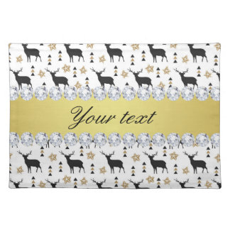 Modern Deer Pattern and Diamonds Placemat