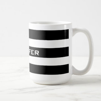 Modern Design Black & White Stripes Pattern 2 Coffee Mug