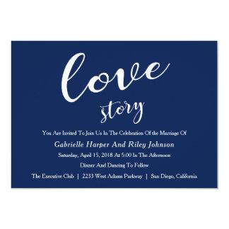 "Modern Design ""Love Story"" Wedding Invitation"
