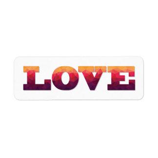 Modern design ombre colors Love stickers