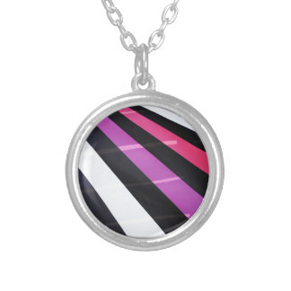 Modern design silver plated necklace