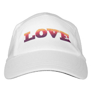 Modern design word Love in ombre colors Hat