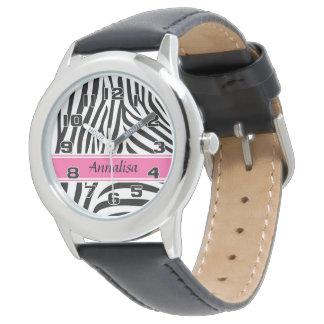 Modern designer personalized zebra stripe Ladies Watch