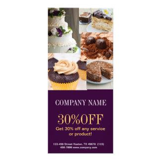 Modern dessert bread cafe bakery rack card