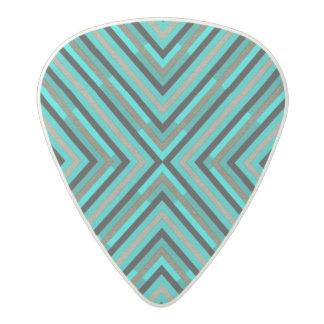 Modern Diagonal Checkered Shades of Green Pattern Acetal Guitar Pick