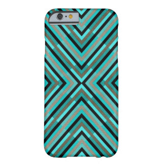 Modern Diagonal Checkered Shades of Green Pattern Barely There iPhone 6 Case