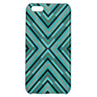 Modern Diagonal Checkered Shades of Green Pattern Cover For iPhone 5C