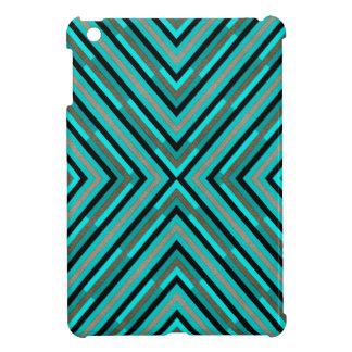 Modern Diagonal Checkered Shades of Green Pattern iPad Mini Cover