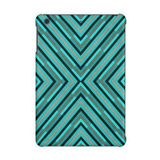 Modern Diagonal Checkered Shades of Green Pattern iPad Mini Retina Covers