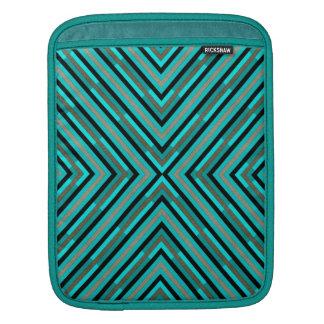 Modern Diagonal Checkered Shades of Green Pattern iPad Sleeve