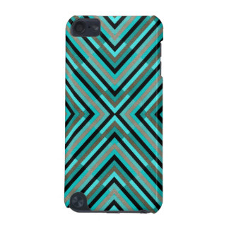 Modern Diagonal Checkered Shades of Green Pattern iPod Touch 5G Cover