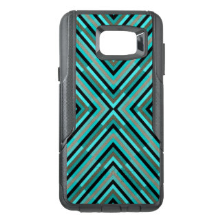 Modern Diagonal Checkered Shades of Green Pattern OtterBox Samsung Note 5 Case