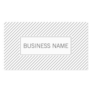 Modern Diagonal Lines Life Coach Business Card