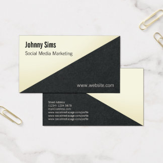 Modern diagonal split triangle line cover business card