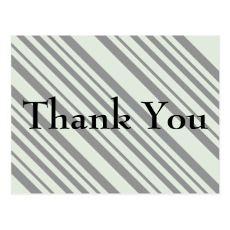 Modern diagonal Striped Thank You Card