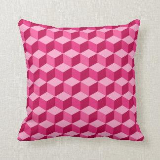 Modern Diamond Grid, Fuchsia and Light Pink Throw Pillow
