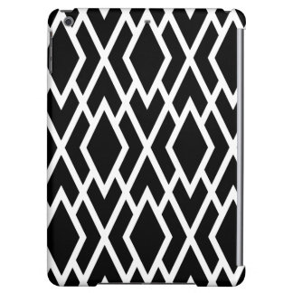 Modern Diamonds Black and White Geometric iPad Air Covers