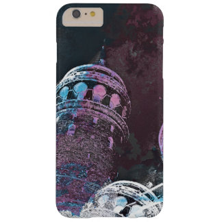 Modern digital graphic art pink towers design barely there iPhone 6 plus case
