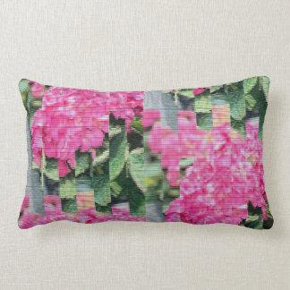 Modern Digitized Floral Lumbar Pillow