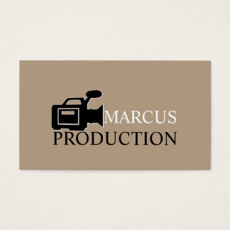 Modern Director, Videographer, Film Productions Business Card