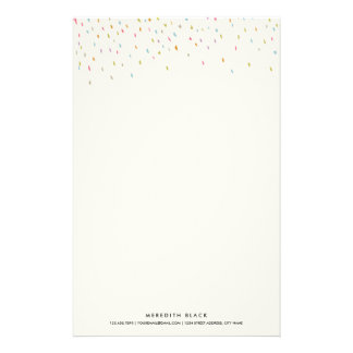 Modern Dot Personalized Stationery Sheets-Rainbow