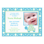 MODERN DOT TURTLE Baby Photo birth Announcement