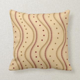Modern Dots And Petals Pattern Pillow