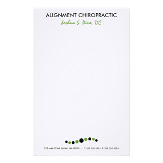 Modern Dots Chiropractic Stationery