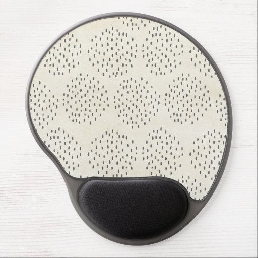 Modern Dots Ivory & Black Tiny Dot Print Gel Mousepads