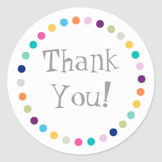 Modern Dots Thank You Sticker