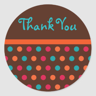 Modern Dots Thank You Stickers