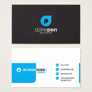 modern double sided business card