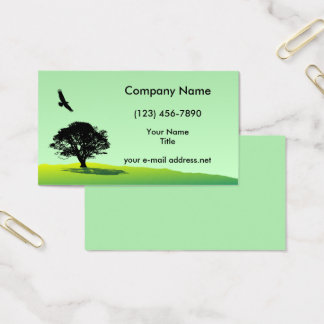 Modern Eagle and Tree Business Card