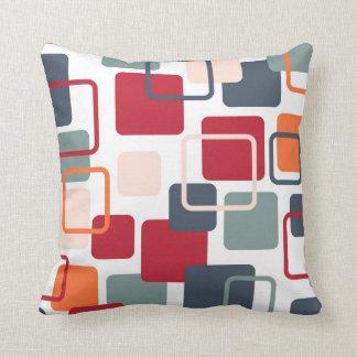 Modern Eames Rectangles 4 Throw Pillow
