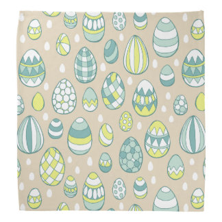 Modern Easter Egg Drawing Pattern Bandanna