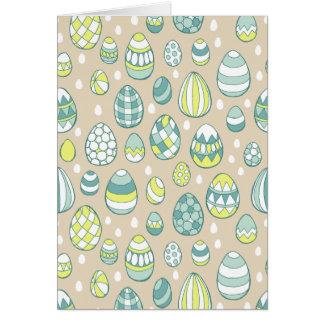 Modern Easter Egg Drawing Pattern Greeting Card
