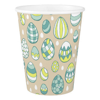Modern Easter Egg Drawing Pattern Paper Cups Paper Cup