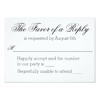 Modern Edge Monogram RSVP Card