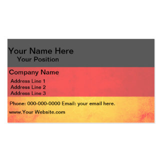 Modern Edgy German Flag Business Card