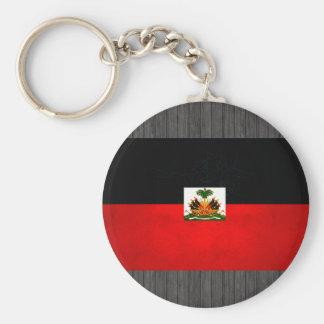 Modern Edgy Haitian Flag Keychain