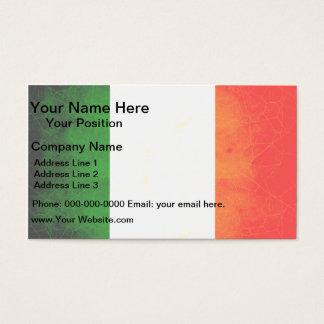 Modern Edgy Irish Flag Business Card