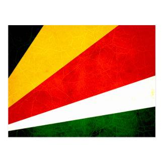 Modern Edgy Seychellois Flag Postcard