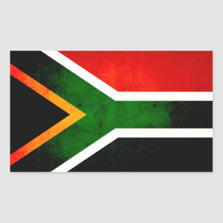 Modern Edgy South African Flag Sticker