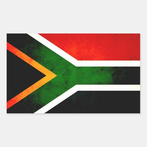 Modern Edgy South African Flag Rectangular Sticker