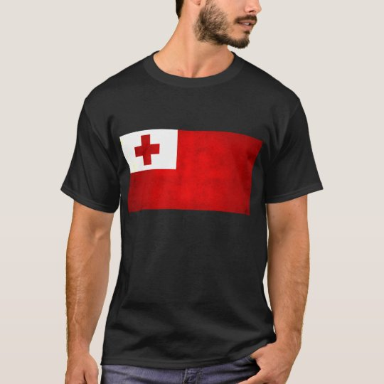 Modern Edgy Tongan Flag T-Shirt